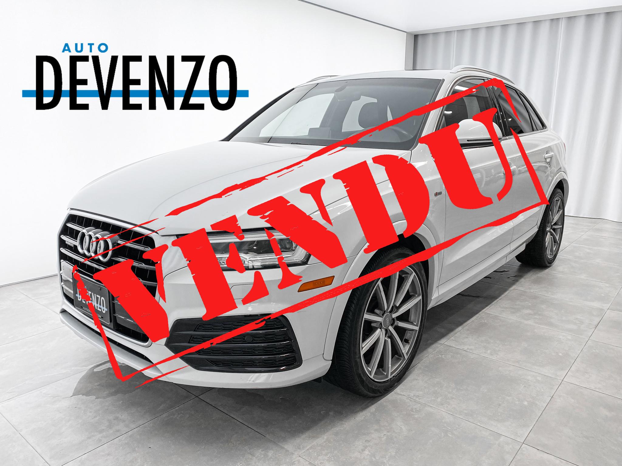 2017 Audi Q3 TECHNIK S-LINE QUATTRO NAVI/CAMERA/PANO complet