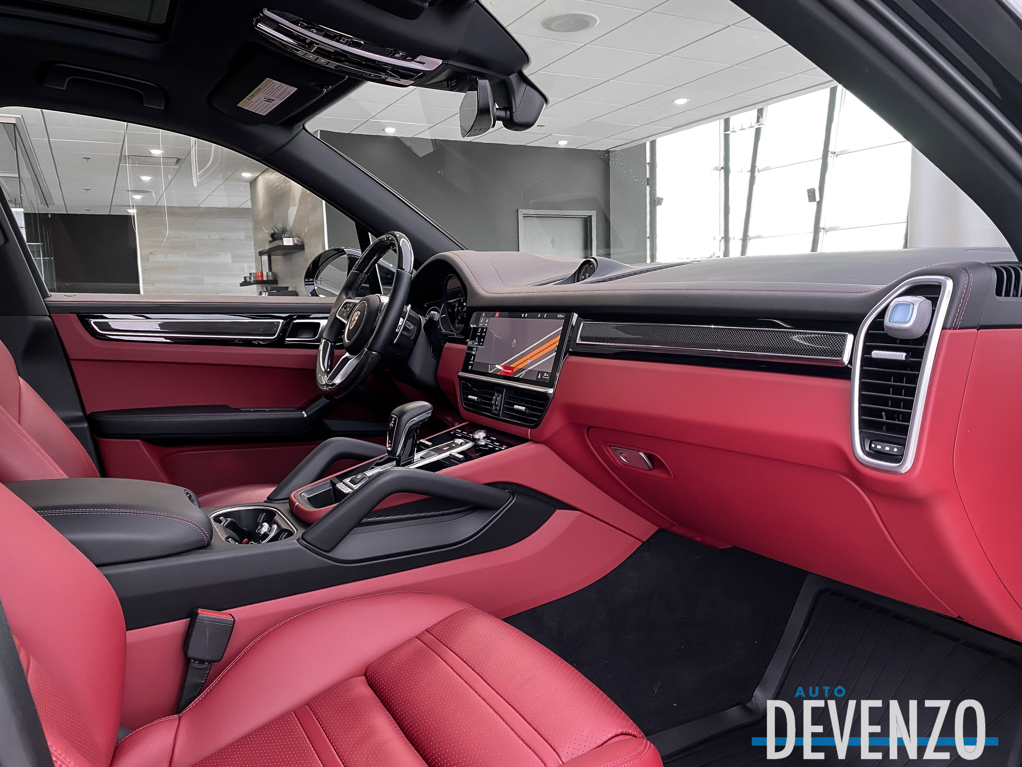 2019 Porsche Cayenne S AWD 434HP 2.9L Red Leather / Carbon Fiber Int complet