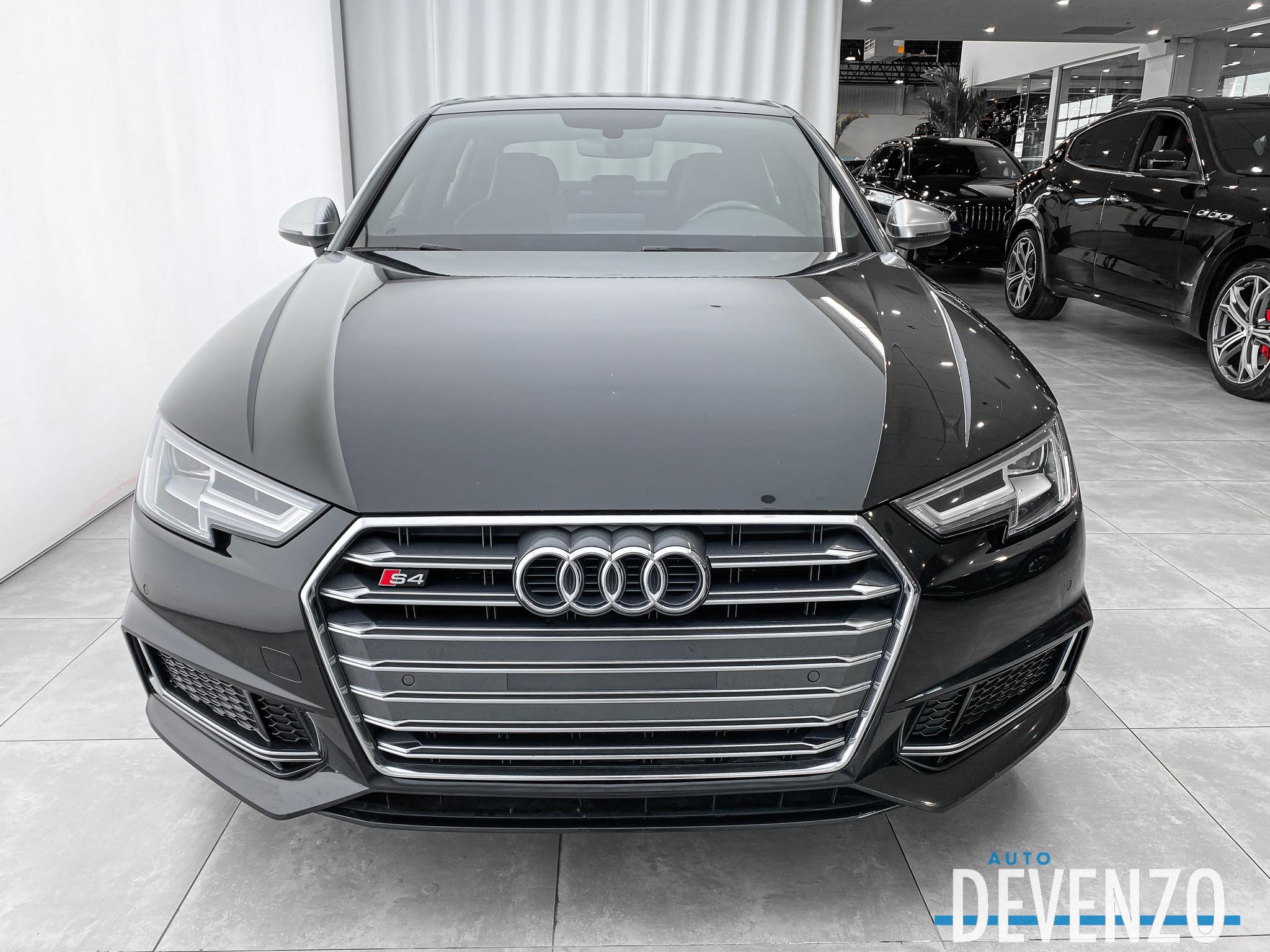 2018 Audi S4 3.0T PREMIUM PLUS CUIR ROUGE GARANTIE NOV 2021 complet