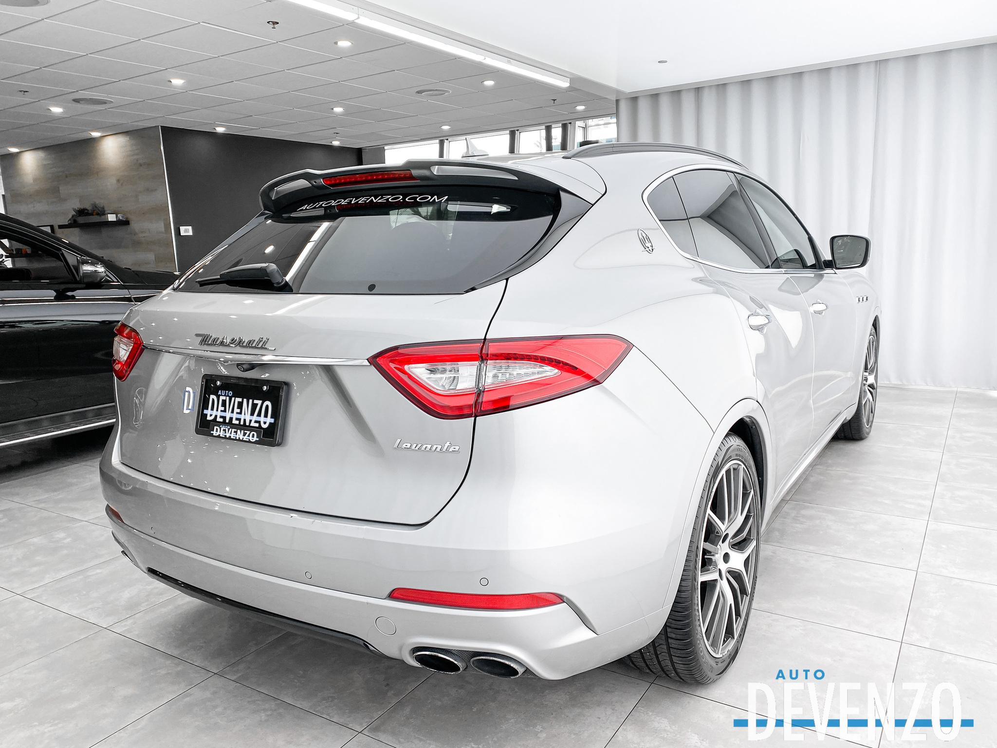 2017 Maserati Levante 3.0L Driver Assistance Plus / Carbon Fiber Trim complet